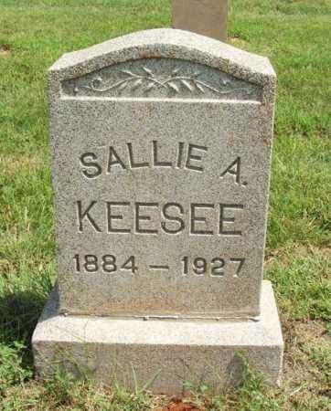 KEESEE, SALLIE A - Harmon County, Oklahoma | SALLIE A KEESEE - Oklahoma Gravestone Photos