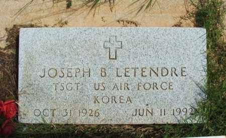 LETENDRE (VETERAN KOR), JOSEPH B - Harmon County, Oklahoma | JOSEPH B LETENDRE (VETERAN KOR) - Oklahoma Gravestone Photos