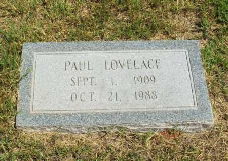 LOVELACE, PAUL - Harmon County, Oklahoma | PAUL LOVELACE - Oklahoma Gravestone Photos