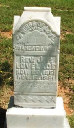 LOVELACE, REV J P - Harmon County, Oklahoma | REV J P LOVELACE - Oklahoma Gravestone Photos