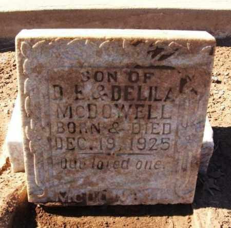 MCDOWELL, INFANT SON - Harmon County, Oklahoma | INFANT SON MCDOWELL - Oklahoma Gravestone Photos