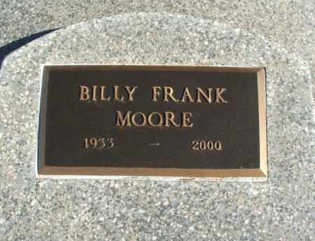 MOORE, BILLY FRANK - Harmon County, Oklahoma | BILLY FRANK MOORE - Oklahoma Gravestone Photos