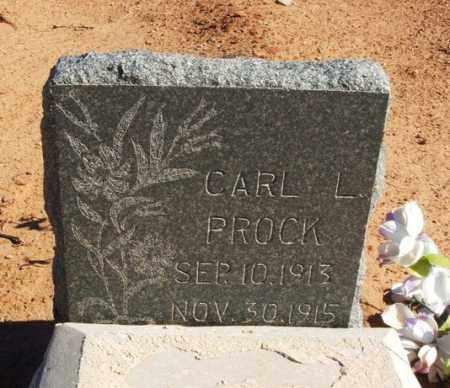 PROCK, CARL L - Harmon County, Oklahoma | CARL L PROCK - Oklahoma Gravestone Photos