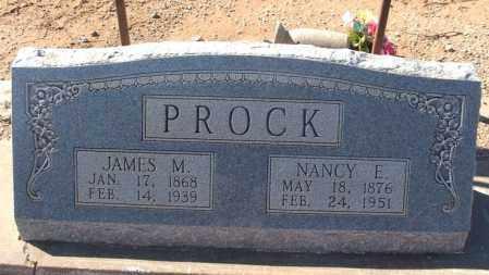 PROCK, JAMES M - Harmon County, Oklahoma | JAMES M PROCK - Oklahoma Gravestone Photos