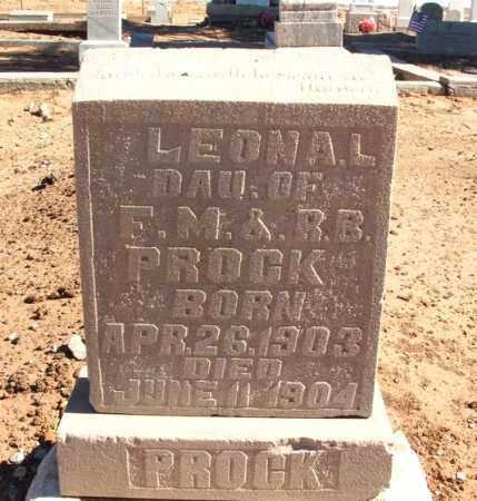 PROCK, LEONA L - Harmon County, Oklahoma   LEONA L PROCK - Oklahoma Gravestone Photos