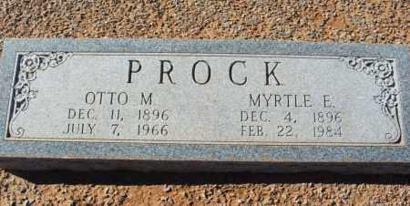 PROCK, OTTO M - Harmon County, Oklahoma | OTTO M PROCK - Oklahoma Gravestone Photos