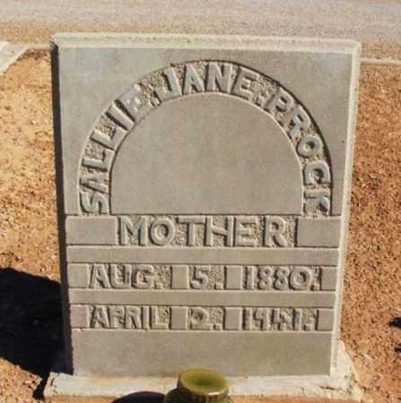 PROCK, SALLIE JANE - Harmon County, Oklahoma   SALLIE JANE PROCK - Oklahoma Gravestone Photos
