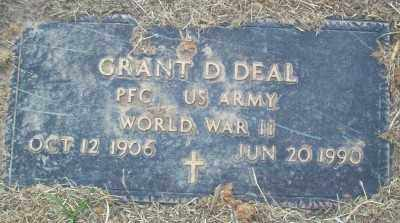 DEAL, GRANT D. - Haskell County, Oklahoma | GRANT D. DEAL - Oklahoma Gravestone Photos