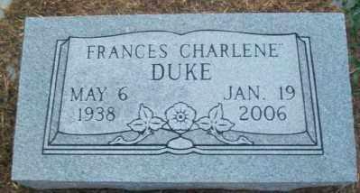 DUKE, FRANCES CHARLENE - Haskell County, Oklahoma | FRANCES CHARLENE DUKE - Oklahoma Gravestone Photos