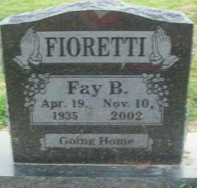FIORETTI, FAY BURCH - Haskell County, Oklahoma | FAY BURCH FIORETTI - Oklahoma Gravestone Photos