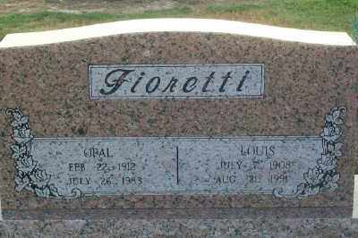 RHOADES FIORETTI, OPAL FAYE - Haskell County, Oklahoma | OPAL FAYE RHOADES FIORETTI - Oklahoma Gravestone Photos