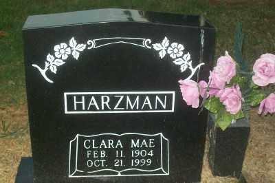 HARZMAN, CLARA MAE - Haskell County, Oklahoma   CLARA MAE HARZMAN - Oklahoma Gravestone Photos
