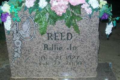 REED, BILLIE JO - Haskell County, Oklahoma | BILLIE JO REED - Oklahoma Gravestone Photos