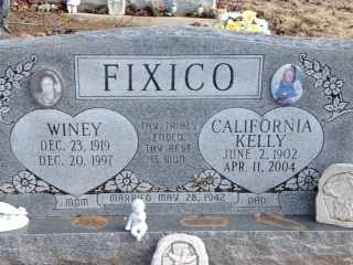 FIXICO, WINEY - Hughes County, Oklahoma | WINEY FIXICO - Oklahoma Gravestone Photos