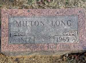 LONG, MILTON - Hughes County, Oklahoma   MILTON LONG - Oklahoma Gravestone Photos