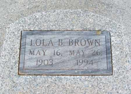 BROWN, LOLA B - Jackson County, Oklahoma | LOLA B BROWN - Oklahoma Gravestone Photos