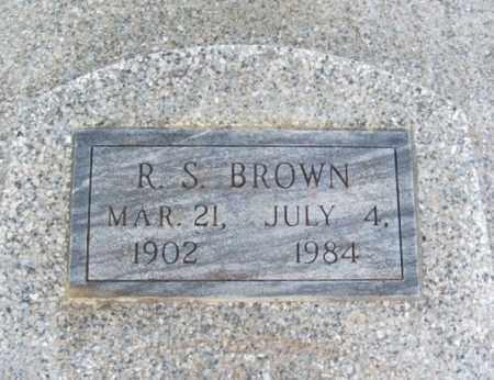 BROWN, R S - Jackson County, Oklahoma   R S BROWN - Oklahoma Gravestone Photos