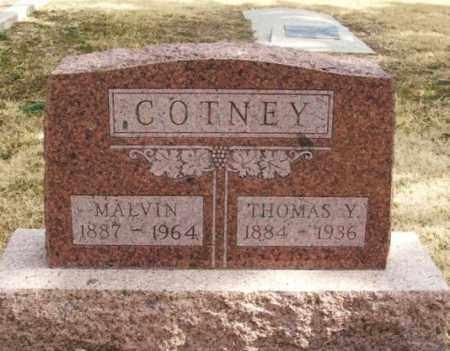 COTNEY, MALVIN - Jackson County, Oklahoma   MALVIN COTNEY - Oklahoma Gravestone Photos