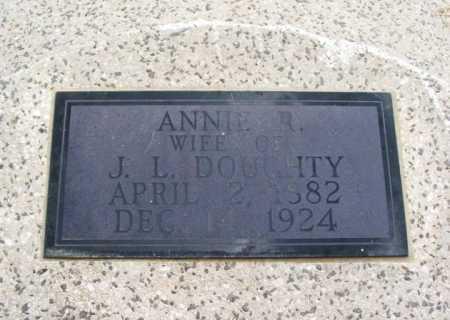 DOUGHTY, ANNIE R - Jackson County, Oklahoma   ANNIE R DOUGHTY - Oklahoma Gravestone Photos
