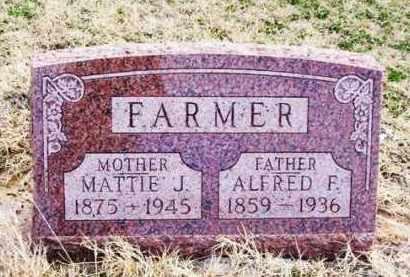 "FARMER, MARTHA JANE ""MATTIE"" - Jackson County, Oklahoma | MARTHA JANE ""MATTIE"" FARMER - Oklahoma Gravestone Photos"