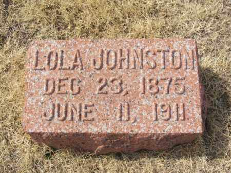 JOHNSTON, LOLA - Jackson County, Oklahoma | LOLA JOHNSTON - Oklahoma Gravestone Photos