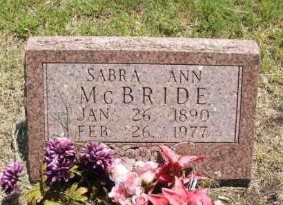 MCBRIDE, SABRA ANN - Jackson County, Oklahoma   SABRA ANN MCBRIDE - Oklahoma Gravestone Photos