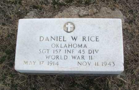 RICE (VETERAN WWII), DANIEL W - Jackson County, Oklahoma | DANIEL W RICE (VETERAN WWII) - Oklahoma Gravestone Photos