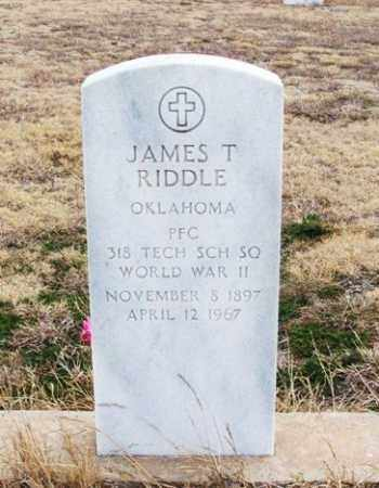 RIDDLE (VETERAN WWII), JAMES T - Jackson County, Oklahoma | JAMES T RIDDLE (VETERAN WWII) - Oklahoma Gravestone Photos