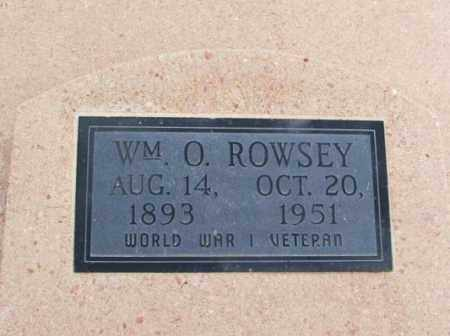 ROWSEY, WILLIAM O - Jackson County, Oklahoma   WILLIAM O ROWSEY - Oklahoma Gravestone Photos