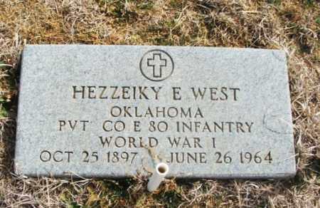 WEST (VETERAN WWI), HEZZEIKY EZEKIEL - Jackson County, Oklahoma | HEZZEIKY EZEKIEL WEST (VETERAN WWI) - Oklahoma Gravestone Photos