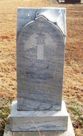 WEST, MARTHA WALKER - Jackson County, Oklahoma   MARTHA WALKER WEST - Oklahoma Gravestone Photos