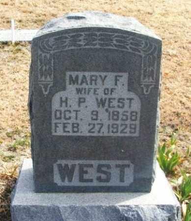 "WEST, MARY FLORENCE ""MOLLIE"" - Jackson County, Oklahoma   MARY FLORENCE ""MOLLIE"" WEST - Oklahoma Gravestone Photos"