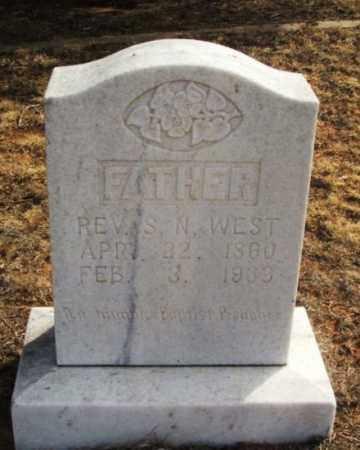 WEST, REV S N - Jackson County, Oklahoma | REV S N WEST - Oklahoma Gravestone Photos