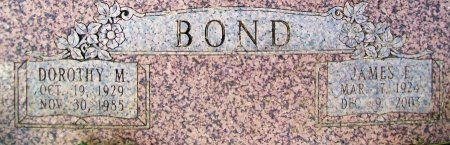 HANCE BOND, DOROTHY M - Jefferson County, Oklahoma | DOROTHY M HANCE BOND - Oklahoma Gravestone Photos