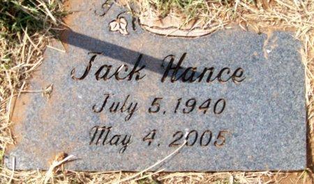 HANCE, JACK - Jefferson County, Oklahoma   JACK HANCE - Oklahoma Gravestone Photos