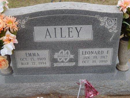 AILEY, LEONARD E - Kay County, Oklahoma   LEONARD E AILEY - Oklahoma Gravestone Photos