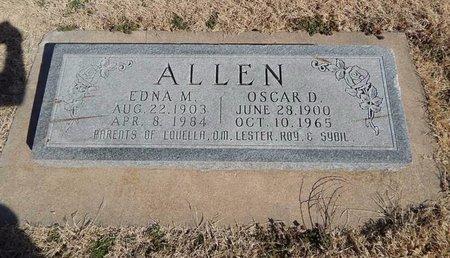 ALLEN, OSCAR D - Kay County, Oklahoma | OSCAR D ALLEN - Oklahoma Gravestone Photos