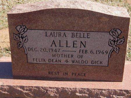 ALLEN, LAURA BELLE - Kay County, Oklahoma | LAURA BELLE ALLEN - Oklahoma Gravestone Photos