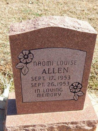 ALLEN, NAOMI LOUISE - Kay County, Oklahoma   NAOMI LOUISE ALLEN - Oklahoma Gravestone Photos