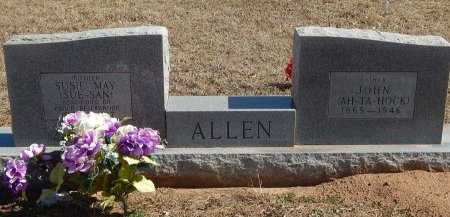 ALLEN, SUSIE AND JOHN - Kay County, Oklahoma   SUSIE AND JOHN ALLEN - Oklahoma Gravestone Photos