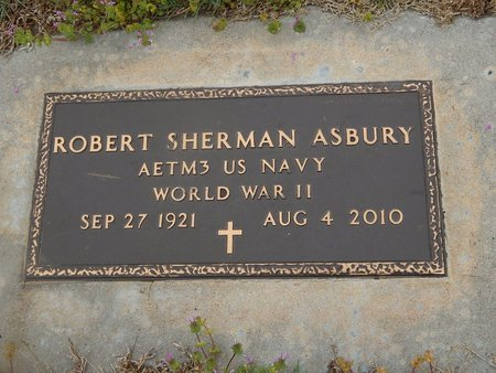 ASBURY (VETERAN WWII), ROBERT SHERMAN - Kay County, Oklahoma | ROBERT SHERMAN ASBURY (VETERAN WWII) - Oklahoma Gravestone Photos