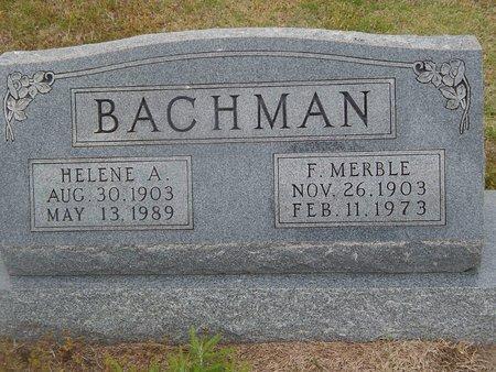 BACHMAN, F MERBLE - Kay County, Oklahoma | F MERBLE BACHMAN - Oklahoma Gravestone Photos