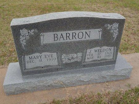 BARRON, J WELDON - Kay County, Oklahoma   J WELDON BARRON - Oklahoma Gravestone Photos