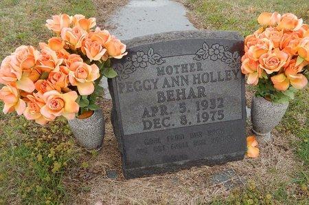 HOLLEY BEHAR, PEGGY ANN - Kay County, Oklahoma | PEGGY ANN HOLLEY BEHAR - Oklahoma Gravestone Photos