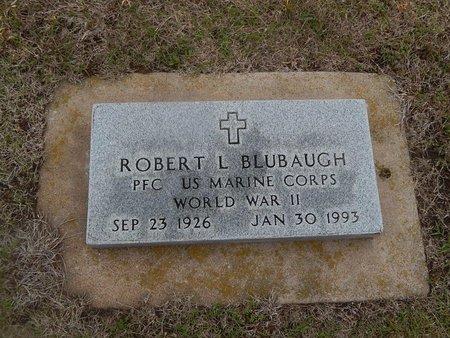 BLUBAUGH (VETERAN WWII), ROBERT L - Kay County, Oklahoma   ROBERT L BLUBAUGH (VETERAN WWII) - Oklahoma Gravestone Photos