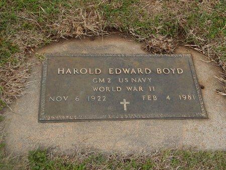BOYD (VETERAN WWII), HAROLD EDWARD - Kay County, Oklahoma | HAROLD EDWARD BOYD (VETERAN WWII) - Oklahoma Gravestone Photos