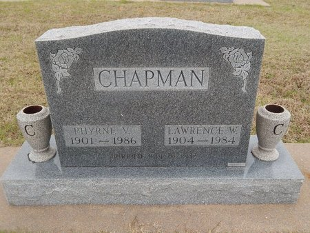 CHAPMAN, PHYRNE V - Kay County, Oklahoma | PHYRNE V CHAPMAN - Oklahoma Gravestone Photos