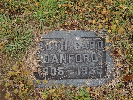 DANFORD, RUTH - Kay County, Oklahoma | RUTH DANFORD - Oklahoma Gravestone Photos