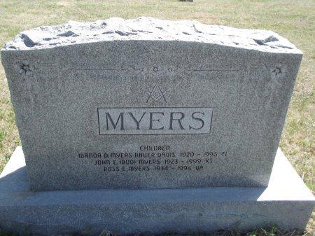 MYERS, ROSS E - Kay County, Oklahoma | ROSS E MYERS - Oklahoma Gravestone Photos