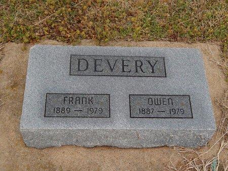 DEVERY, FRANK - Kay County, Oklahoma | FRANK DEVERY - Oklahoma Gravestone Photos
